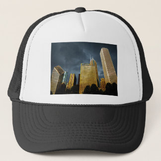 Chicago Skyline Before A Storm Trucker Hat