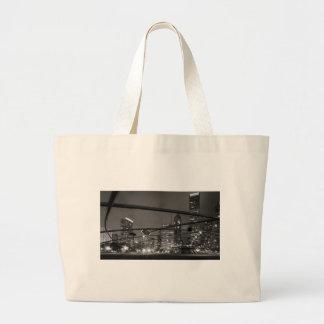 Chicago Skyline Black & White Jumbo Tote Bag