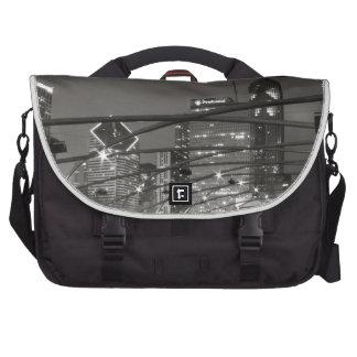 Chicago Skyline Black & White Commuter Bags
