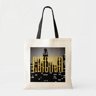 Chicago Skyline Budget Tote Bag