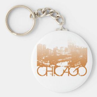 Chicago Skyline Design Keychain