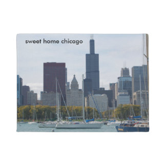 Chicago skyline doormat
