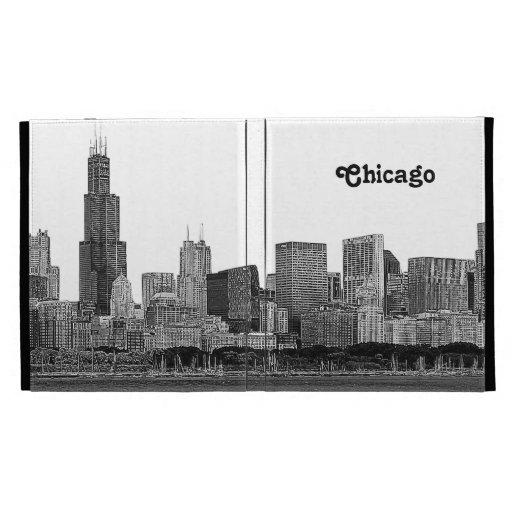 Chicago Skyline Etched iPad Folio Case