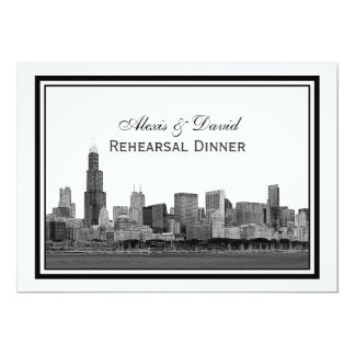 Chicago Skyline Etched Framed #2 H Rehearsal Card