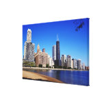 Chicago Skyline. Gallery Wrapped Canvas