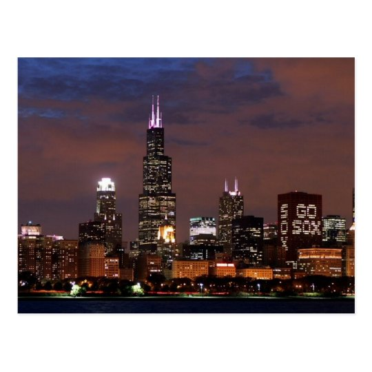Chicago Skyline Go Sox Postcard