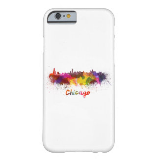 Chicago skyline in watercolor barely there iPhone 6 case
