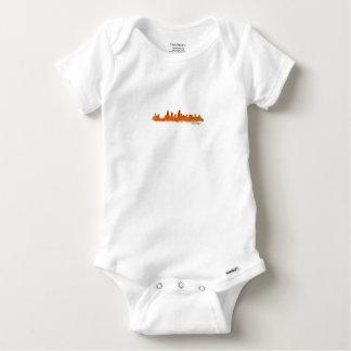 Chicago skyline in watercolor Cityscape Baby Onesie