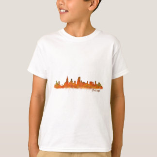 Chicago skyline in watercolor Cityscape T-Shirt