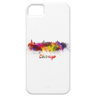Chicago skyline in watercolor iPhone 5 cases