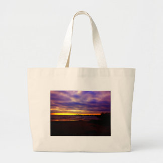 Chicago skyline large tote bag