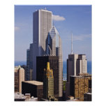 Chicago Skyline Looking towards lake Michigan Poster