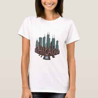 Chicago Skyline newwave chocolate T-Shirt