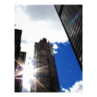Chicago Skyline Personalized Letterhead