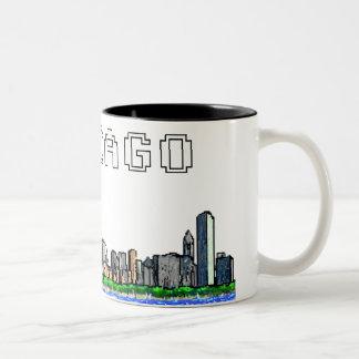 Chicago Skyline Pixel Art Coffee Mug