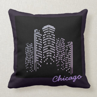 Chicago Skyline Polyester Pillow