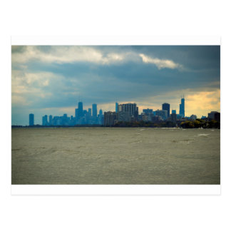 Chicago skyline. postcard