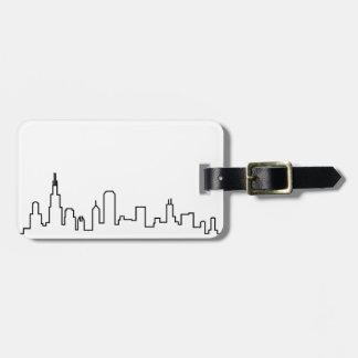 Chicago Skyline Series Luggage Tag