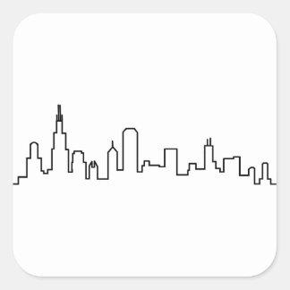 Chicago Skyline Series Square Sticker