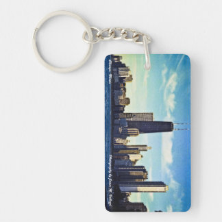 Chicago Skyline Single-Sided Rectangular Acrylic Keychain