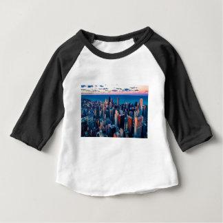 Chicago Skyline Sundown Baby T-Shirt