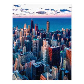 Chicago Skyline Sundown Letterhead
