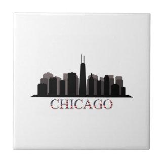 chicago skyline tile