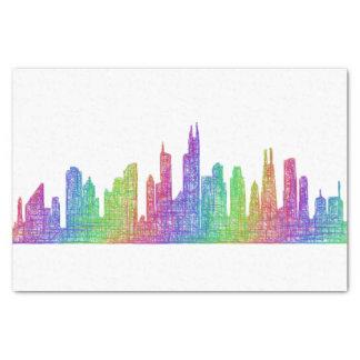 Chicago skyline tissue paper