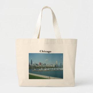 Chicago Skyline Tote Handbag