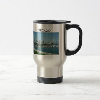 Chicago Skyline Travel Coffee Mug Cup