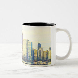 Chicago Skyline Two-Tone Coffee Mug