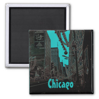 Chicago State Street @ Christmas 1967 Glowing Edge Magnet