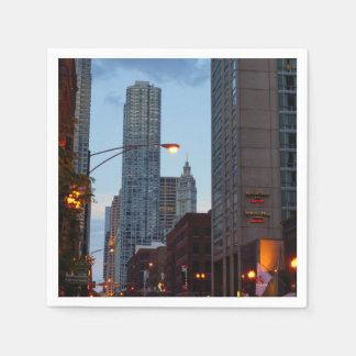 Chicago Street Scene Paper Napkins