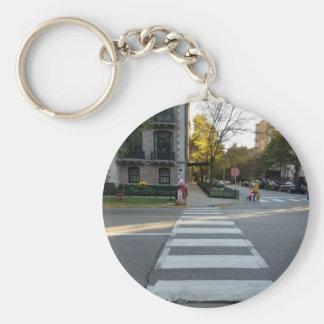 Chicago Street Zebra Crossing Keychain