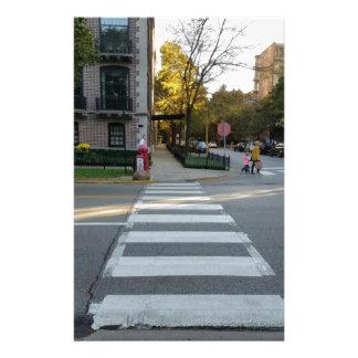 Chicago Street Zebra Crossing Stationery