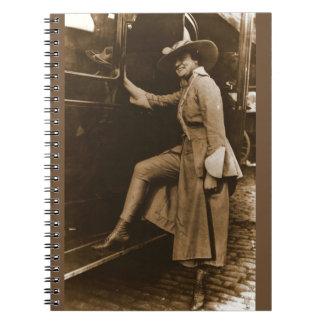 Chicago Suffragette Marching Costume Spiral Notebook