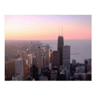 Chicago Sunset Postcard