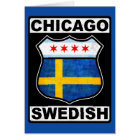 Chicago Swedish American Card