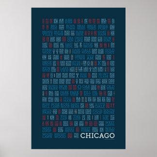 Chicago Syllabic Poster