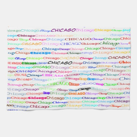 Chicago Text Design II Kitchen Towel