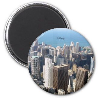 Chicago, The Windy City 2 Inch Round Magnet