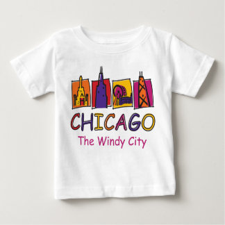 Chicago The Windy City Baby T-Shirt