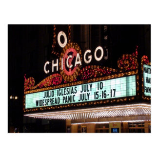 Chicago Theater Marquee Post Card