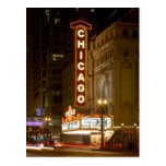 Chicago Theatre, Chicago Illinois Travel Post Card