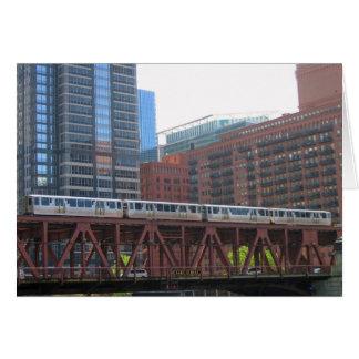 Chicago Train at Lake Street Card