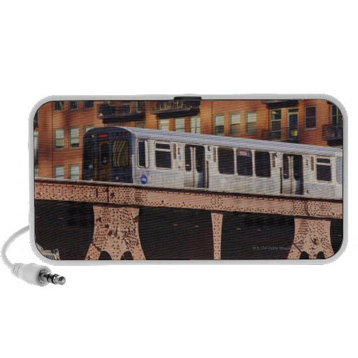 Chicago Train at Riverbend iPhone Speakers
