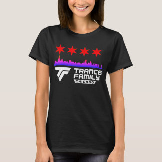 Chicago Trance Family City Skyline & Stars T-Shirt