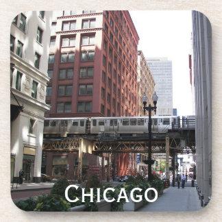 Chicago Travel Photo Coaster Set