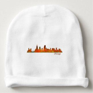 Chicago U.S. Skyline cityscape Baby Beanie