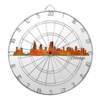 Chicago U.S. Skyline cityscape Dartboard